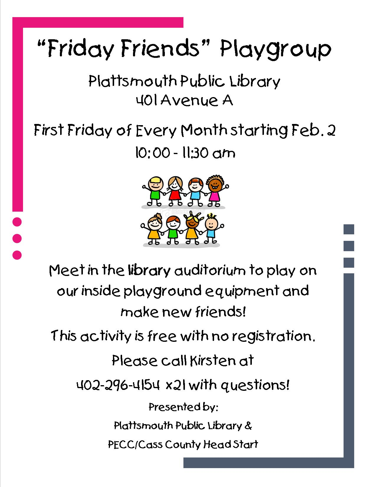 Friday Friends Playgroup Poster3235